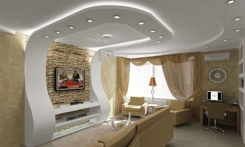 طراحی و اجرای انواع سقف صاف و دکوراتیو کناف