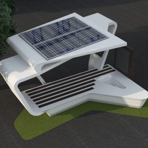 مبلمان خورشیدی هوشمند