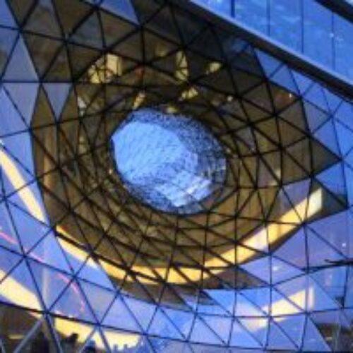 نمای شیشه ای اسپایدر کرتین وال درب و پنجره UPVC